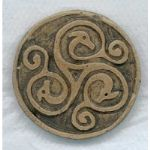 Birds head Celtic handmade brooch
